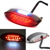 Motorcycle Tail Brake Stop License Plate Light LED Integrated Taillight Brake Light Red & White