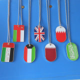 Country Flag Dog Tag Necklace Stainless Steel (AS-Printing Dog Tag-LU-135)