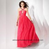 Women Sexy Chiffon Sleeveless Backless Evening Party Prom Dress
