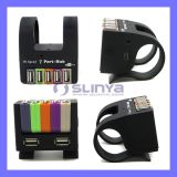 High Speed USB2.0 USB Drive Port Power Adapter 3.0 Colorful 7 Port USB Hub with Clamp Computer Accessories Folding Hubs