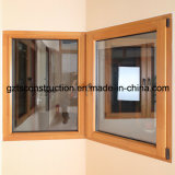 2013 europe style wood window with grill design