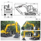 Baoding Mini/Small Excavator with ISO9001 Certificate