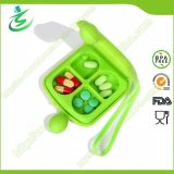 4-Case Double Sided Pill Box, Wholesale Daily Aquare Pill Box