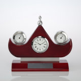 Desk Clock A6046 Thermometer Hygrometer Clock Gift Set for Business Souvenir and Giveaways