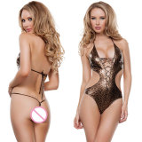 Fast Delivery Female Catsuit Leopard Design Sex Women Lingerie