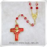 Wholesale Prayer Newest Glass Catholic Rosary, Glass Round Beads Necklace (IO-cr365)
