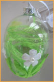 New Design Factory Wholesale Hand Painted Glass Egg