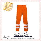 OEM Orange Cotton Hi-Vis Safety Engineer Welder Cargo Work Pants