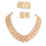 Ms Beauty Promotion Price Luxury Gold Plate Jewelry 3 Pieces a jewelry Set