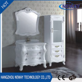 Simple Floor Standing Antique White Color Furniture Bathroom Cabinet