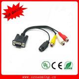 HDMI to VGA+3RCA Cable, Cable VGA+3RCA to HDMI
