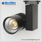 Ce, RoHS, SAA, ETL 20W/30W/35W/45W White Black Silver CREE COB LED Track Light