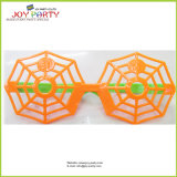 Orange Spider Web Plastic Glasses for Halloween Party