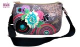 New Designer Zipper Embroidery Print Flower Hot Stample Cross Bags