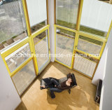 Aluminium Shutters Motorized Between Insualted Glass for Shading or Partition