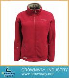 Winter Red Fashion Zip up Fleece Jacket for Women