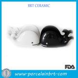 Couple Whale Ceramic Hand Phone Holder