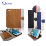 2015 Popular Stand PU Wallet Leather Case for iPhone 6