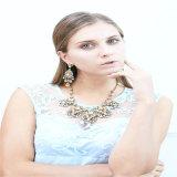 New Design Resin Crystal Necklace Bracelet Earring Fashion Jewellery Set
