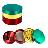 4-Layers Dia 55mm Aluminum Herbal Herb Tobacco Grinder Hand Muller Smoke Cigar Magnetic