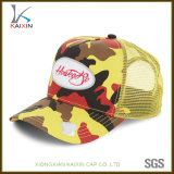 Custom Neon Camo Trucker Mesh Hat with Embroidered Patch