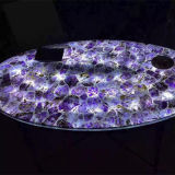Large Purple Translucent Slate Amethyst Stone Slabs for Sale