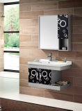 Stainless Steel Bathroom Cabinet with Side Cabinet (T-9435B)