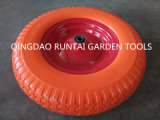 Qingdao Made High Quality Orange Color Beauty PU Wheel (4.80/4.00-8)