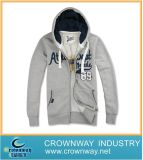 Men′s Fashion Knitted Combed Cotton Hoodie with Long Zip