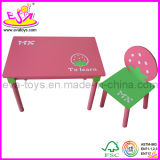 2015 Simple Girl Learning Kids Table and Chair, Children Desk and Chair, Strawberry Design Wooden Table Chair Wholesale Wj278941
