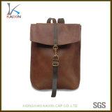 Custom PU Leather Men Laptop Backpack Bag