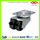 Nylon Double Wheel Caster (P190-20B036X15D)