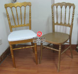 Hotel Metal Golden Color Napoleon Chair for Wedding