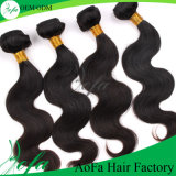 7A Grade Unprocessed Virgin Natural Black Remi Hair Wefts