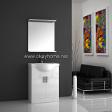 High Gloss Painting, PVC Coating Bathroom Cabinet (7001-70)