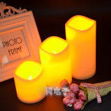Blow out Function Flameless LED Candle White Pillar Electronic Candle No Drips