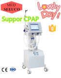 Ce Approved Medical Ventilator PA-900b II with Air Compressor