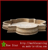 Cheap Beige Stone Carving Water Fountain Pool (NS-1131)