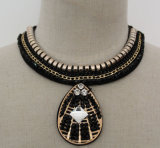 Fashion Charm Crystal Choker Collar Pendant Jewellery Necklace (JE0025)