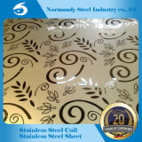 201 Mirror Etching Stainless Steel Plate for Decoration