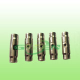3/8 Quick Coupling Slip Lock Through Brass Coated Nickle Straight Connector