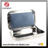 Rol3 110mm Metal Silver Kingsize Tobacco Rolling Box Cigarette Roller Case Flat Bottom Iron