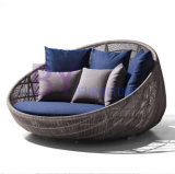 European Style Nest-Shaped Outdoor Balcony Rattan Daybed
