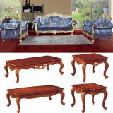 Wood Sofa Set with Corner Table for Home Furniture (D929B)