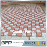 Red and Grey Meshed Cobblestone for Square and Landscape Paving