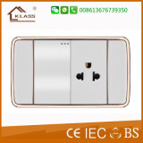 New Design 118 One Gang Switch and 3pin Thailand Wall Socket