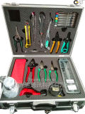 Fiber Optic Toolkit with 18 Pieces, Optical Fiber, Fiber Cleaver, Optical Fiber Cable Tool