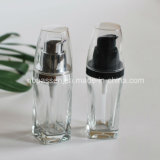 30ml Transparent Glass Bottle with Lotion Pump for Cosmetics (PPC-NEW-099)