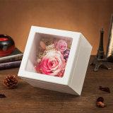 Wooden Preserved Flower Music Box for Gift
