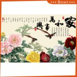 Harmony Brings Wealth Inkjet Printed Chinese Painting for Home Decoration